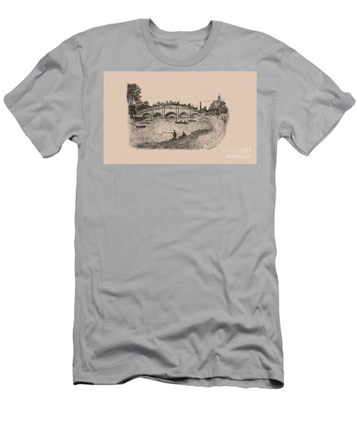 Busy Richmond Bridge And Fishermen Men's T-Shirt (Athletic Fit)