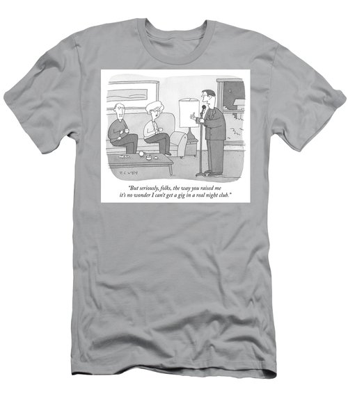 But Seriously Folks Men's T-Shirt (Athletic Fit)