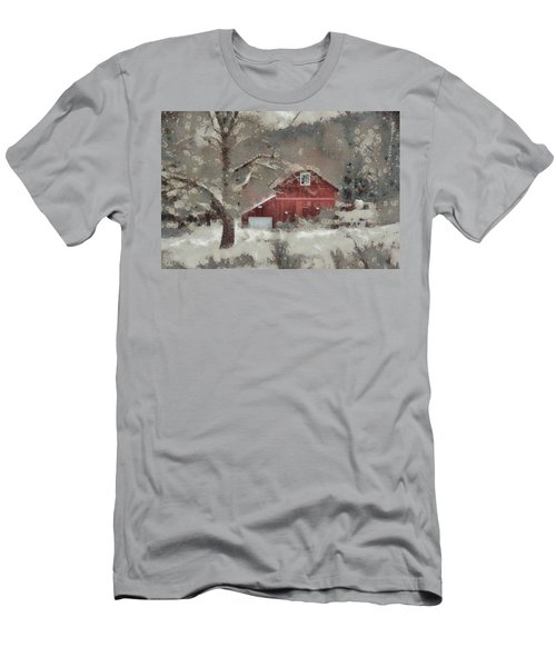 Men's T-Shirt (Slim Fit) featuring the mixed media Butter Lane by Trish Tritz