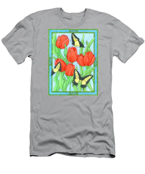 Butterfly Idyll-tulips Men's T-Shirt (Athletic Fit)