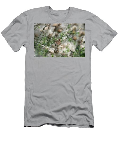 Butterfly In Puffy Seed Heads Men's T-Shirt (Athletic Fit)