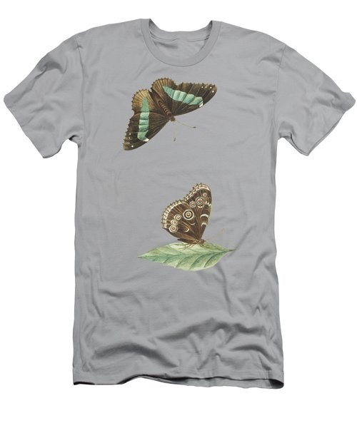 Butterfly Seen From Below And From Above By Cornelis Markee1763 Men's T-Shirt (Athletic Fit)