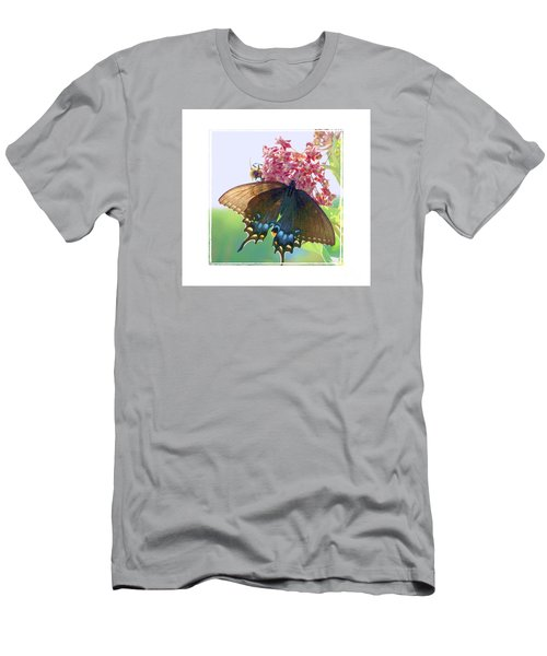 Men's T-Shirt (Slim Fit) featuring the photograph Butterfly Summer 3 by Shirley Moravec