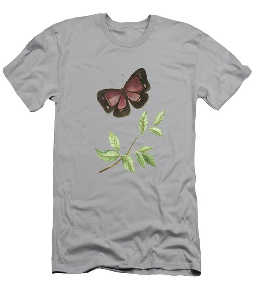 Butterfly With Leaf By Cornelis Markee 1763 Men's T-Shirt (Athletic Fit)