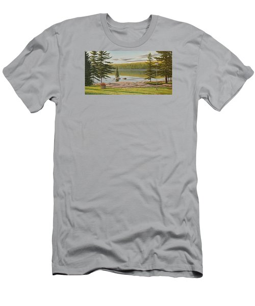 By The Lakeside Men's T-Shirt (Athletic Fit)