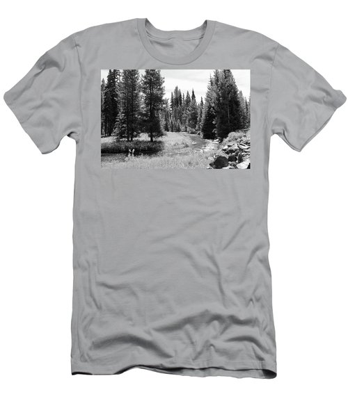 Men's T-Shirt (Slim Fit) featuring the photograph By The Stream by Christin Brodie