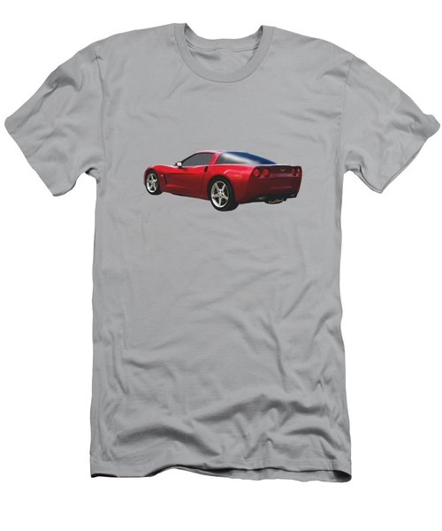 C-6 Corvette And The Cosmos Men's T-Shirt (Athletic Fit)