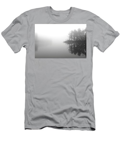 Cabin In The Foggy Woods Men's T-Shirt (Athletic Fit)