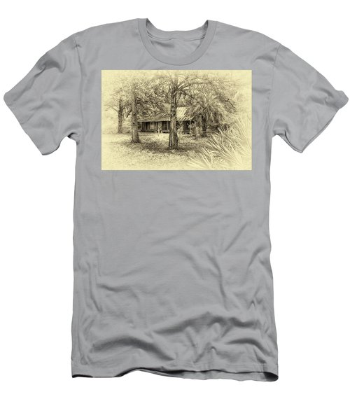 Men's T-Shirt (Slim Fit) featuring the photograph Cabin In The Woods by Louis Ferreira