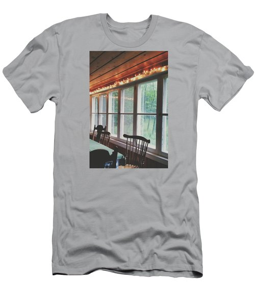 Men's T-Shirt (Slim Fit) featuring the photograph Cabin In The Woods by Nikki McInnes