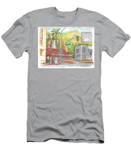 Cabo Cantina, Sunset Blvd And Sweetzer Ave., West Hollywood, California Men's T-Shirt (Slim Fit) by Carlos G Groppa