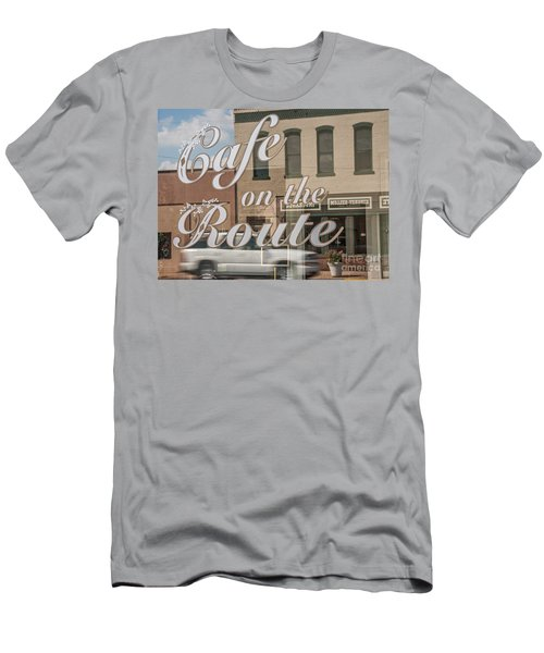 Men's T-Shirt (Slim Fit) featuring the photograph Cafe On The Route by Sue Smith