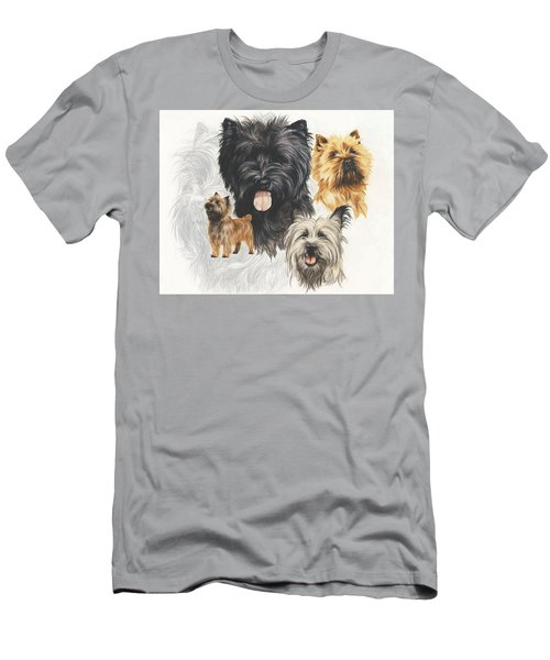 Men's T-Shirt (Athletic Fit) featuring the mixed media Cairn Terrier Revamp by Barbara Keith