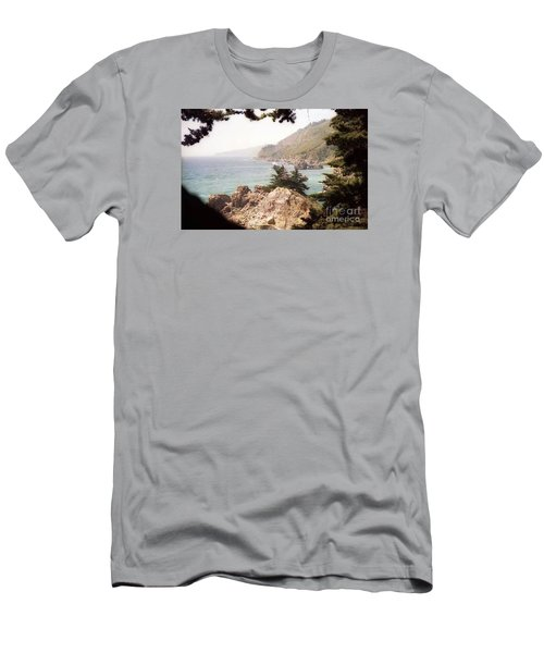 Calif Coast Drive Ocean View Men's T-Shirt (Slim Fit) by Ted Pollard