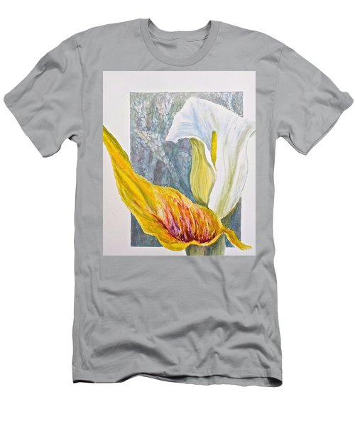 Calla Lily Men's T-Shirt (Slim Fit) by Carolyn Rosenberger