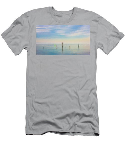 Men's T-Shirt (Athletic Fit) featuring the photograph Calm Bayshore Morning N0 2 by Gary Slawsky