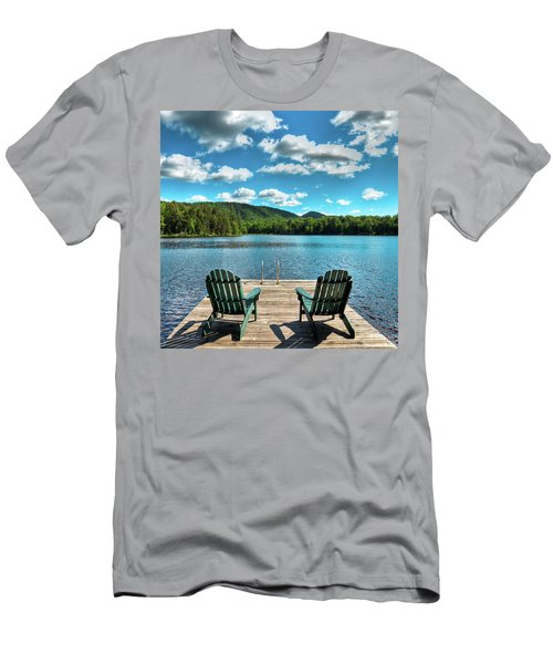 Calm In The Adirondacks Men's T-Shirt (Slim Fit) by David Patterson