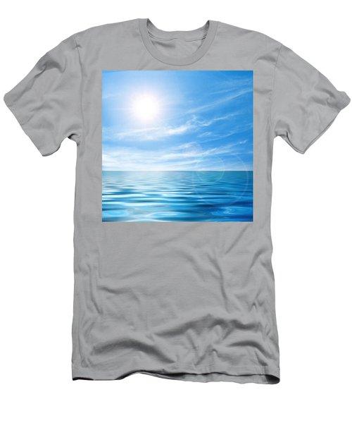 Calm Seascape Men's T-Shirt (Athletic Fit)
