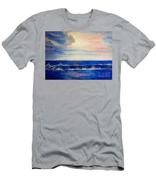 Calming Wave Men's T-Shirt (Athletic Fit)