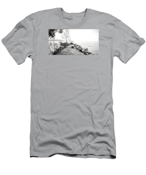 Camp Of The Woods, Ny Men's T-Shirt (Slim Fit) by Rena Trepanier