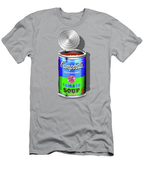 Campbell's Soup Revisited - Blue And Green Men's T-Shirt (Slim Fit) by Serge Averbukh