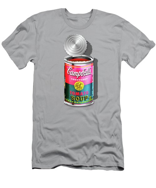 Campbell's Soup Revisited - Pink And Green Men's T-Shirt (Slim Fit) by Serge Averbukh