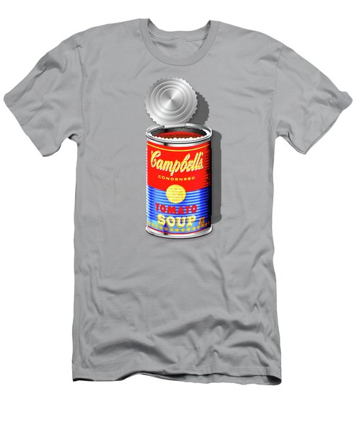 Campbell's Soup Revisited - Red And Blue   Men's T-Shirt (Slim Fit) by Serge Averbukh