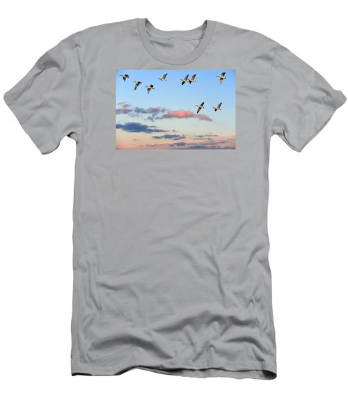 Canada Geese Migration Men's T-Shirt (Athletic Fit)