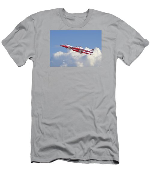 Men's T-Shirt (Slim Fit) featuring the photograph Canadian Air Force Aerobatic Team - Snowbirds by Pat Speirs