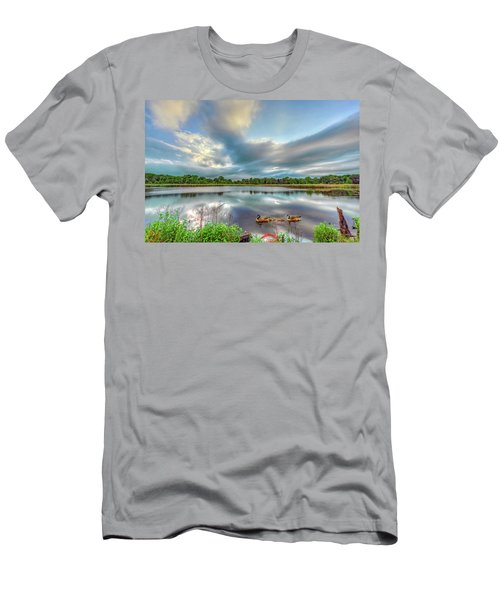 Canadian Geese On A Marylamd Pond Men's T-Shirt (Athletic Fit)