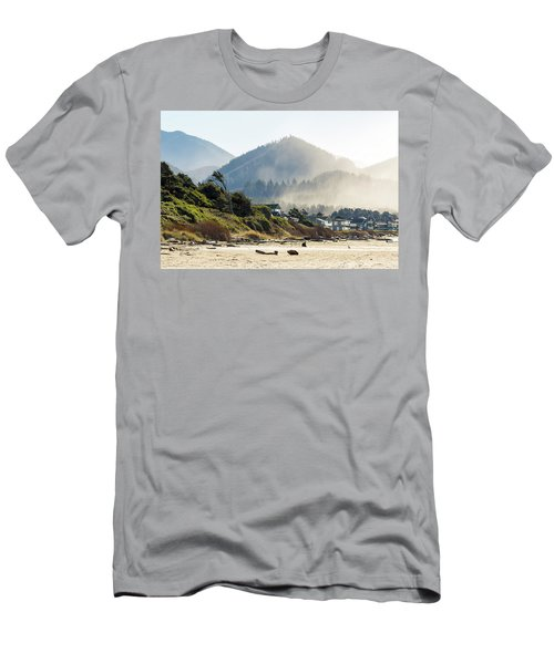 Cannon Beach Oceanfront Vacation Homes Men's T-Shirt (Athletic Fit)