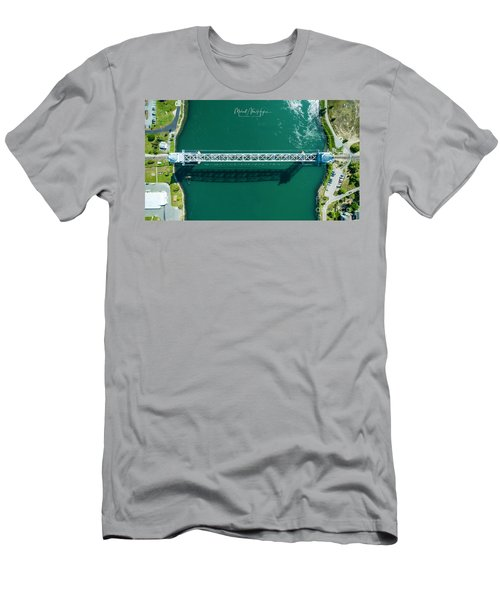 Cape Cod Canal Railroad Bridge Men's T-Shirt (Athletic Fit)