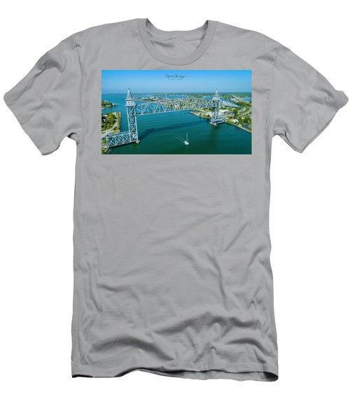Cape Cod Canal Suspension Bridge Men's T-Shirt (Athletic Fit)