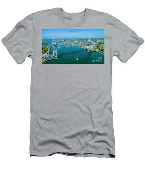 Cape Cod Canal Suspension Bridge Men's T-Shirt (Athletic Fit)
