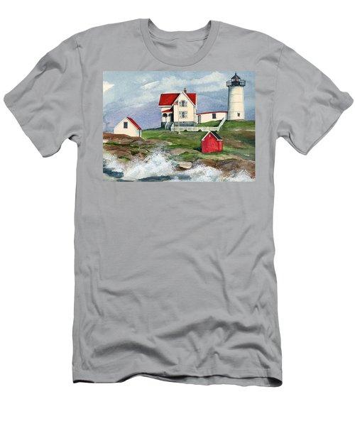 Cape Neddic Lighthouse  Men's T-Shirt (Athletic Fit)