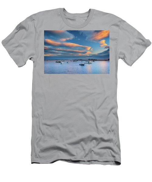 Men's T-Shirt (Slim Fit) featuring the photograph Cape Porpoise Harbor At Sunset by Rick Berk
