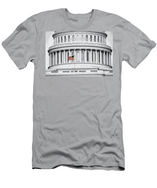 Men's T-Shirt (Athletic Fit) featuring the photograph Capitol Flag by John Schneider