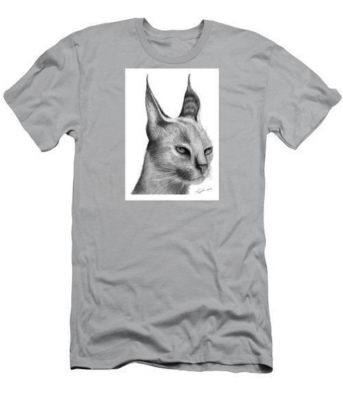 Caracal Men's T-Shirt (Slim Fit) by Lawrence Tripoli