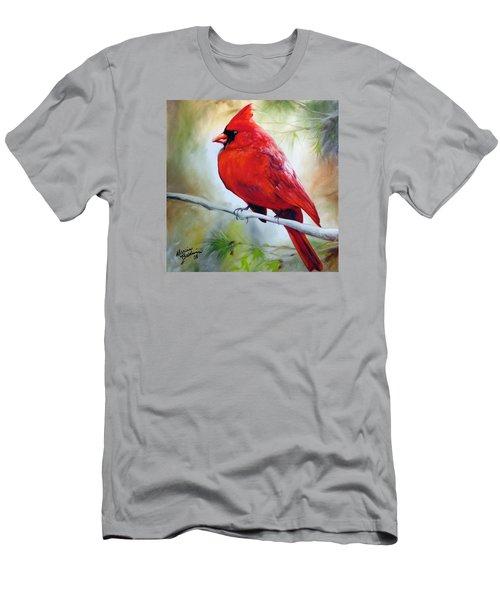 Cardinal 18 Men's T-Shirt (Slim Fit) by Marcia Baldwin