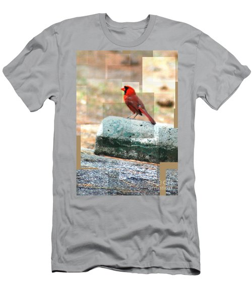 Men's T-Shirt (Athletic Fit) featuring the photograph Cardinal by Donna Bentley