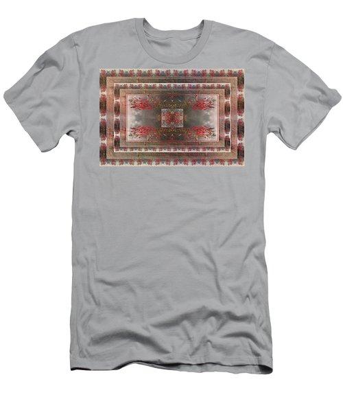 Cardinal Flower Design Men's T-Shirt (Athletic Fit)