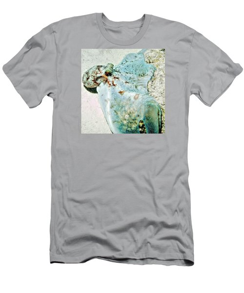 Caribbean Reef Octopus - Eyes Of The Deep Men's T-Shirt (Slim Fit) by Amy McDaniel