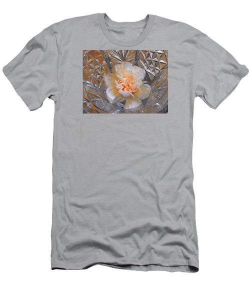 Carnation In Cut Glass 7 Men's T-Shirt (Slim Fit) by Lynda Lehmann