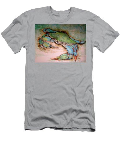 Carolina Blue Crab Men's T-Shirt (Athletic Fit)