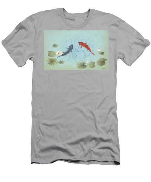 Carp In Lily Pond Men's T-Shirt (Athletic Fit)