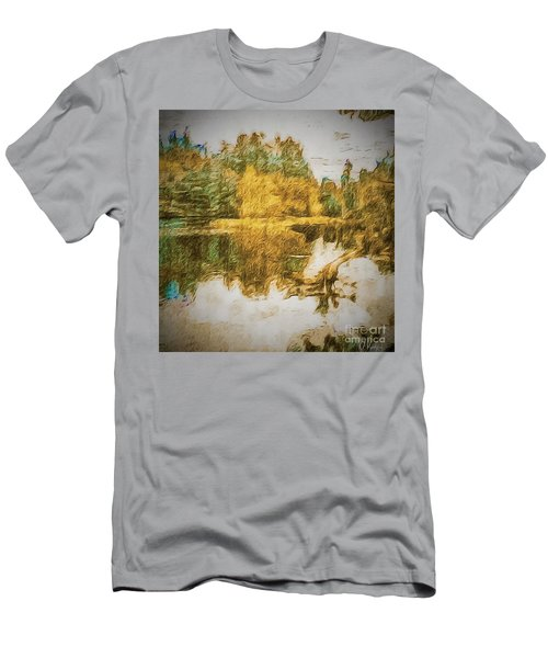 Men's T-Shirt (Slim Fit) featuring the photograph Cascade Lake by William Wyckoff