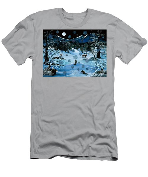 Cascade Snowflake Men's T-Shirt (Athletic Fit)