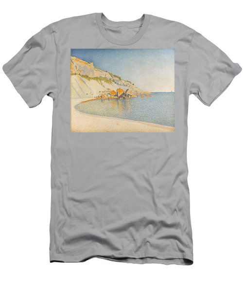 Men's T-Shirt (Slim Fit) featuring the painting Cassis. Cap Lombard. Opus 196 by Paul Signac