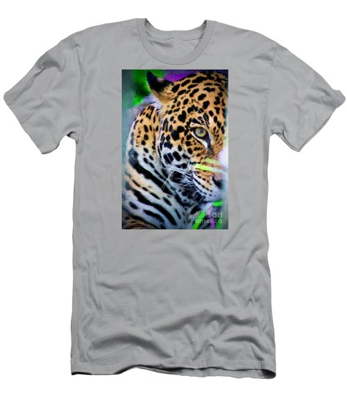 Men's T-Shirt (Slim Fit) featuring the painting Cat Eye by Judy Kay