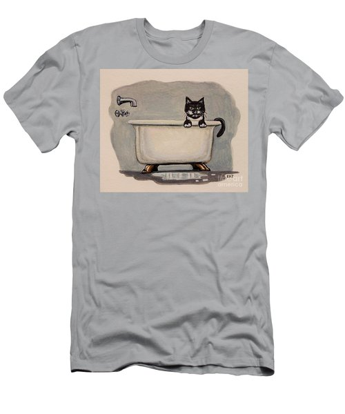 Cat In The Bathtub Men's T-Shirt (Athletic Fit)
